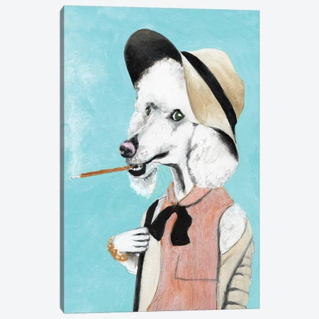 Poodle Preppy Canvas Print #COC257} by Coco de Paris Canvas Wall Art