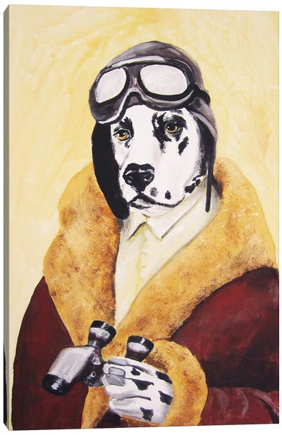 Dalmatian Aviator Canvas Art Print