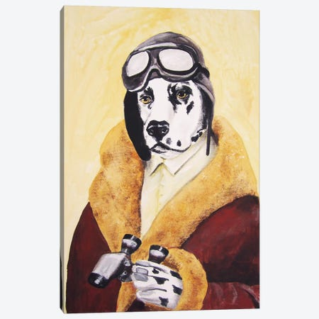 Dalmatian Aviator Canvas Print #COC25} by Coco de Paris Art Print