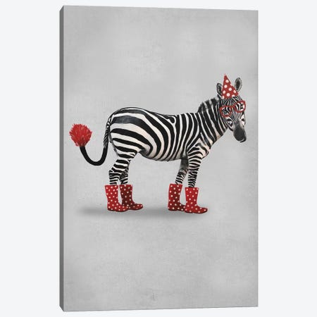 Zebra Party Canvas Print #COC261} by Coco de Paris Canvas Art