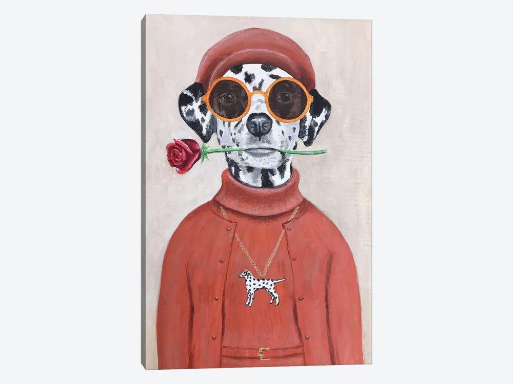 Dalmatian With Rose by Coco de Paris 1-piece Canvas Wall Art