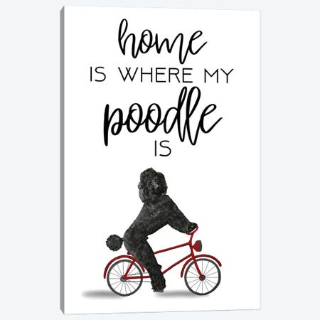 Poodle Canvas Print #COC274} by Coco de Paris Canvas Artwork