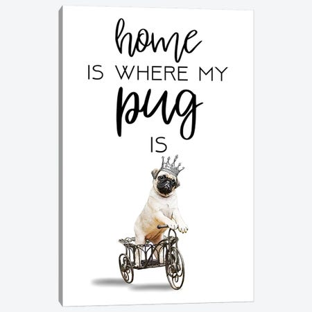 Pug Canvas Print #COC275} by Coco de Paris Canvas Wall Art