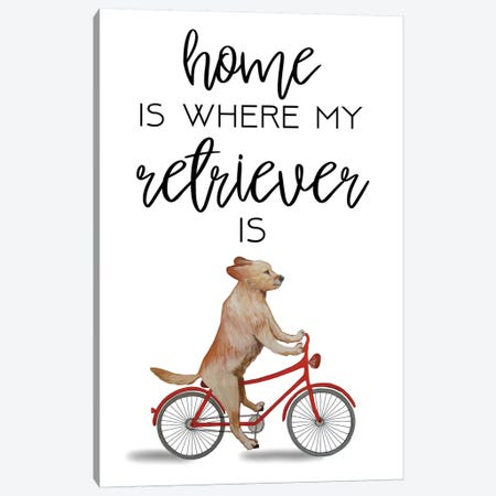 Retriever Canvas Print #COC276} by Coco de Paris Canvas Artwork