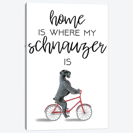 Schnauzer Canvas Print #COC277} by Coco de Paris Canvas Art