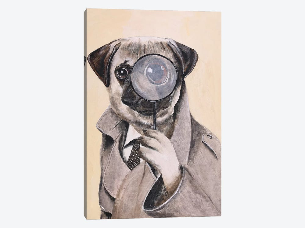 Pug Sherlock Holmes by Coco de Paris 1-piece Art Print