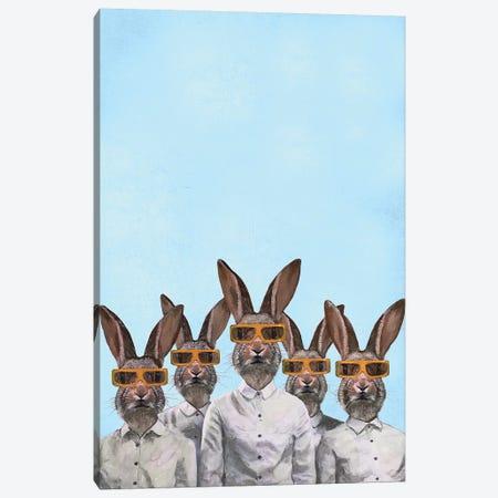 Rabbits With 3D Spectacles Canvas Print #COC283} by Coco de Paris Canvas Art