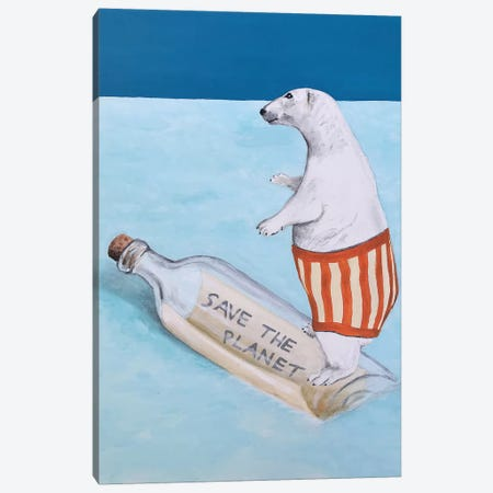 Save The Planet Polar Bear 3-Piece Canvas #COC284} by Coco de Paris Art Print