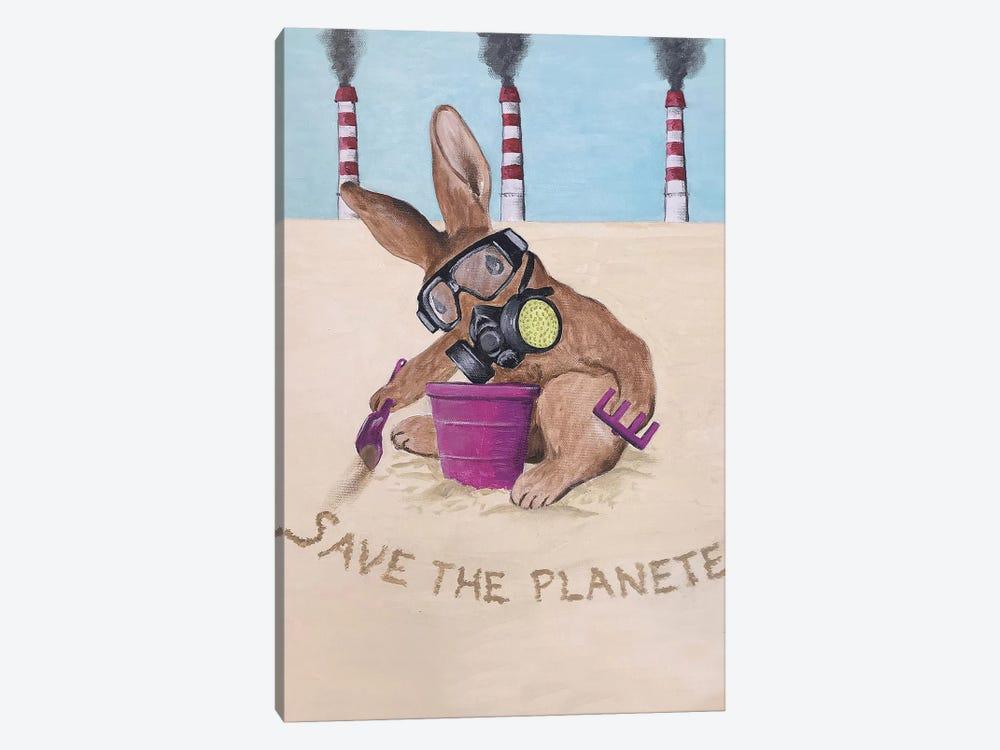 Save The Planet Rabbit by Coco de Paris 1-piece Canvas Art Print