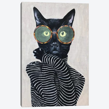 Cat Fashion I Canvas Print #COC287} by Coco de Paris Canvas Art Print