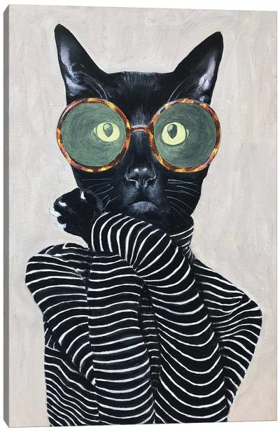 Cat Fashion I Canvas Art Print