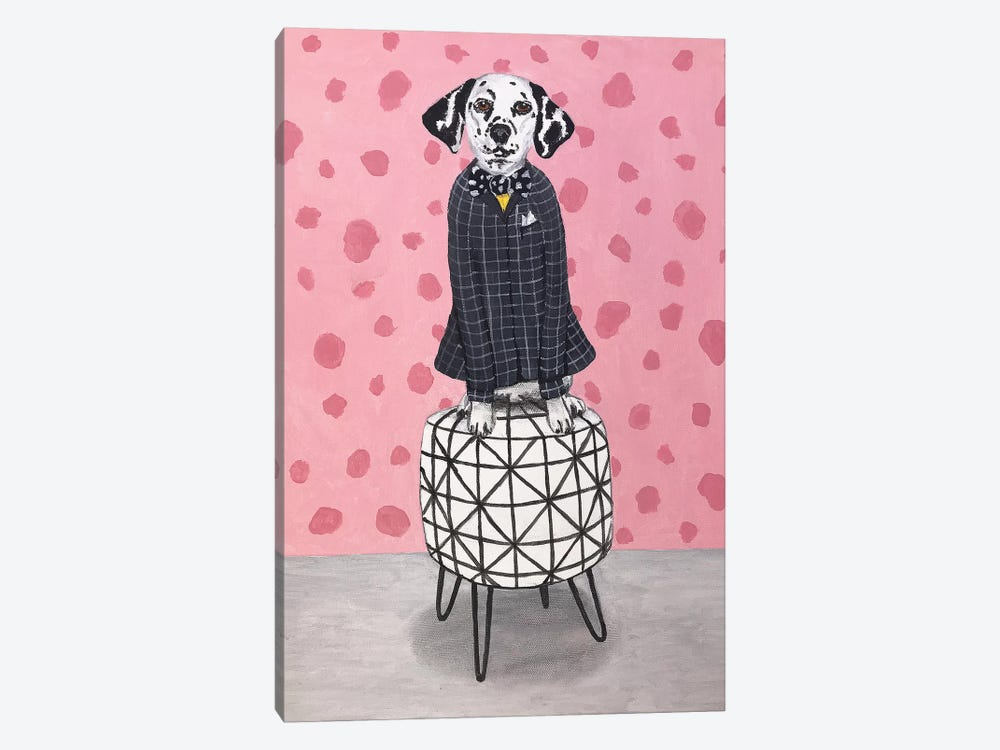 Dalmatian On Pouf by Coco de Paris 1-piece Canvas Artwork
