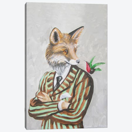 Dapper Fox Canvas Print #COC28} by Coco de Paris Canvas Art