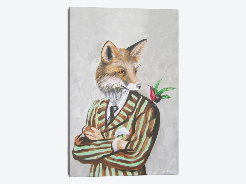 Dapper Fox by Coco de paris 1-piece Canvas Artwork
