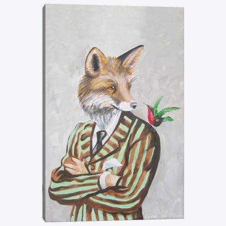 Dapper Fox Canvas Print #COC28} by Coco de Paris Canvas Art