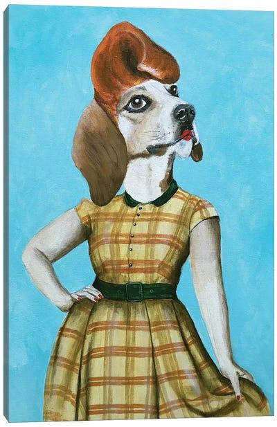 Beagle Pinup Canvas Art Print
