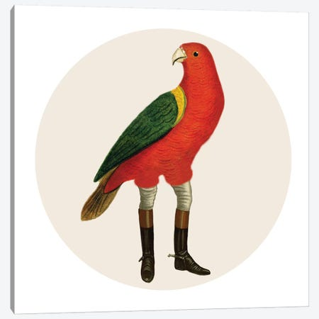 Bird With Boots Canvas Print #COC292} by Coco de Paris Canvas Print