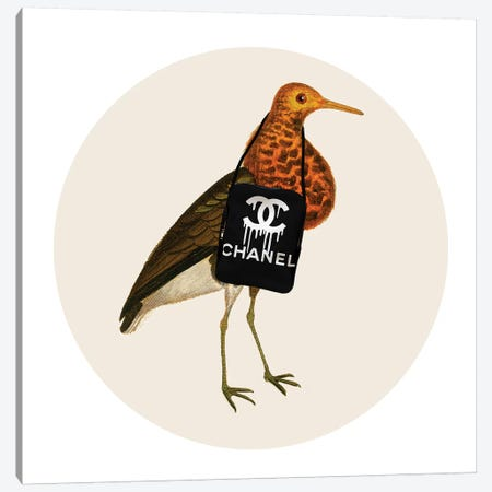 Bird With Chanel Bag Canvas Print #COC293} by Coco de Paris Art Print