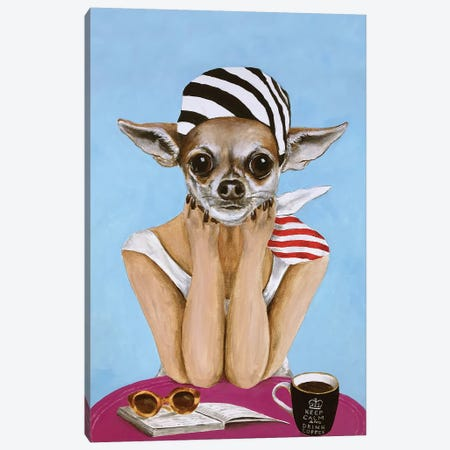 Chihuahua Bistro Canvas Print #COC294} by Coco de Paris Canvas Art