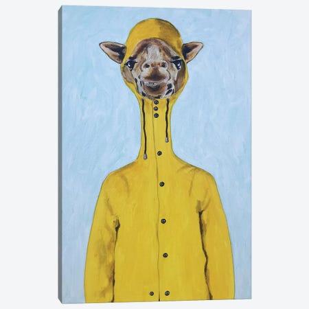 Giraffe Raincoat Canvas Print #COC298} by Coco de Paris Art Print