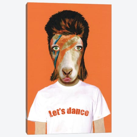 David Bowie Goat Canvas Print #COC29} by Coco de paris Canvas Wall Art