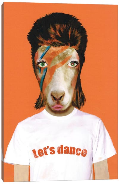 David Bowie Goat Canvas Print #COC29