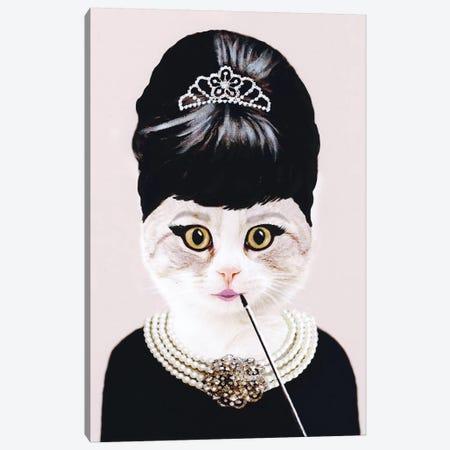 Audrey Hepburn Cat 3-Piece Canvas #COC2} by Coco de Paris Art Print