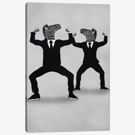 Zebra Vogueing Canvas Print #COC302} by Coco de Paris Art Print