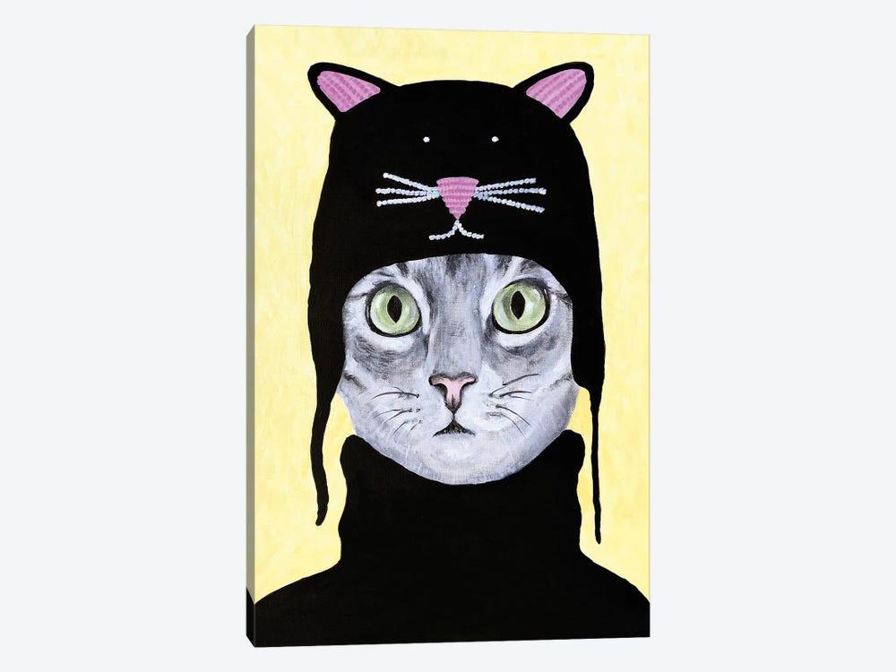 Cat With Cat Hat by Coco de Paris 1-piece Canvas Artwork