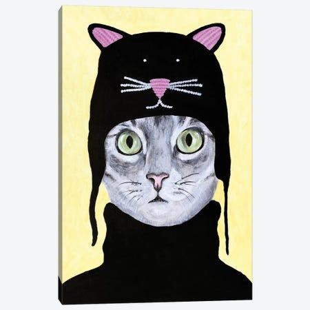 Cat With Cat Hat Canvas Print #COC303} by Coco de Paris Canvas Print