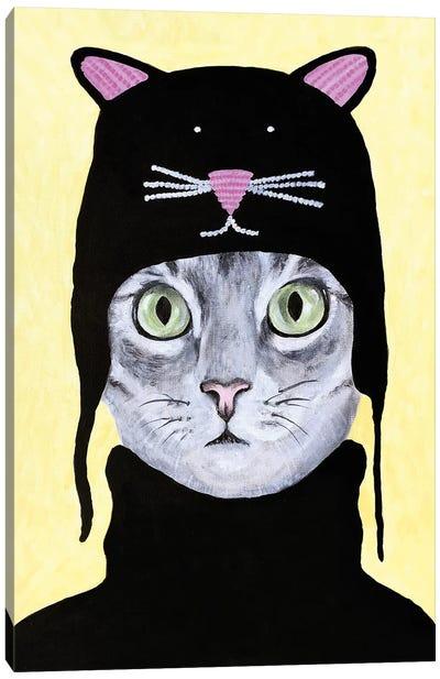 Cat With Cat Hat Canvas Art Print
