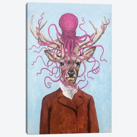 Deer With Octopus Canvas Print #COC304} by Coco de Paris Canvas Wall Art