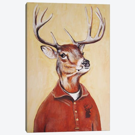 Deer Boy Canvas Print #COC30} by Coco de paris Art Print