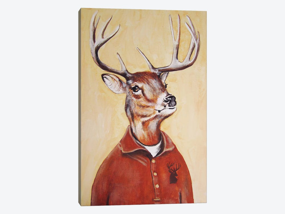 Deer Boy by Coco de paris 1-piece Art Print