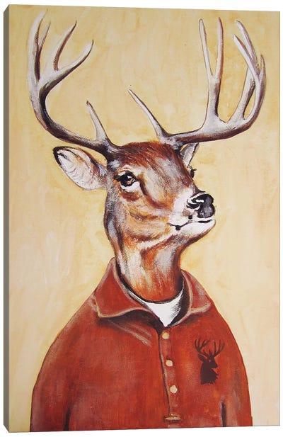 Deer Boy Canvas Art Print