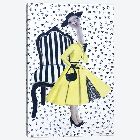 Fashion Ostrich Canvas Print #COC311} by Coco de Paris Canvas Artwork