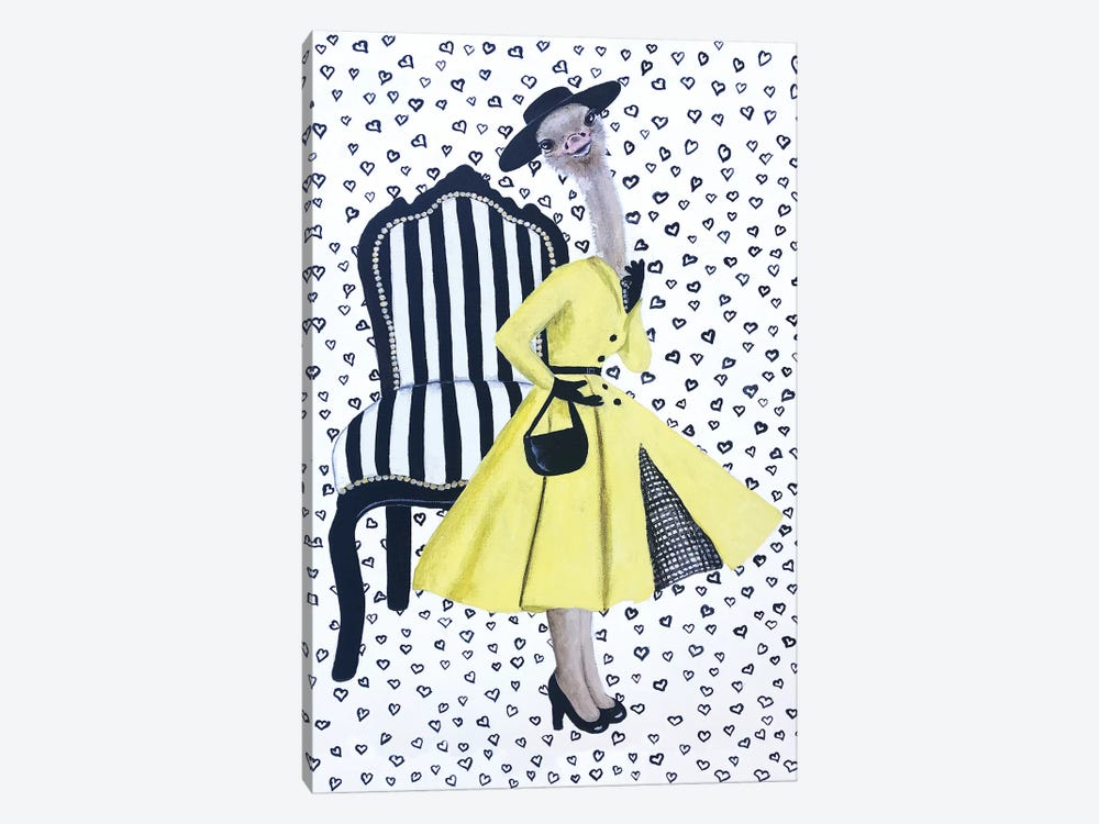 Fashion Ostrich by Coco de Paris 1-piece Canvas Print