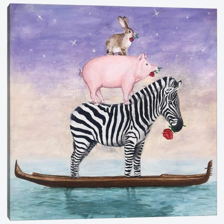 Noah Forgot Some Animals Canvas Print #COC313} by Coco de Paris Canvas Art
