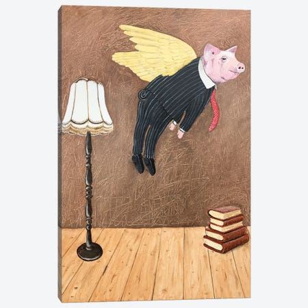 Flying Pig Canvas Print #COC315} by Coco de Paris Canvas Print