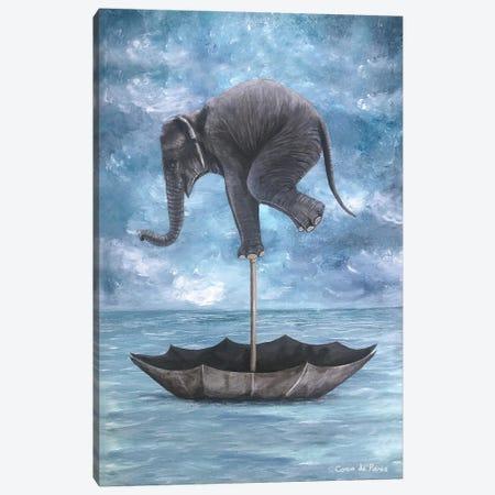 Elephant In Balance Canvas Print #COC319} by Coco de Paris Canvas Artwork