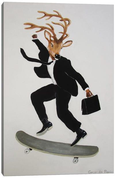 Deer Skater Canvas Print #COC31