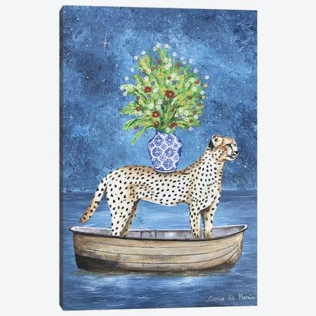 Cheetah Flowers Canvas Print #COC321} by Coco de Paris Art Print