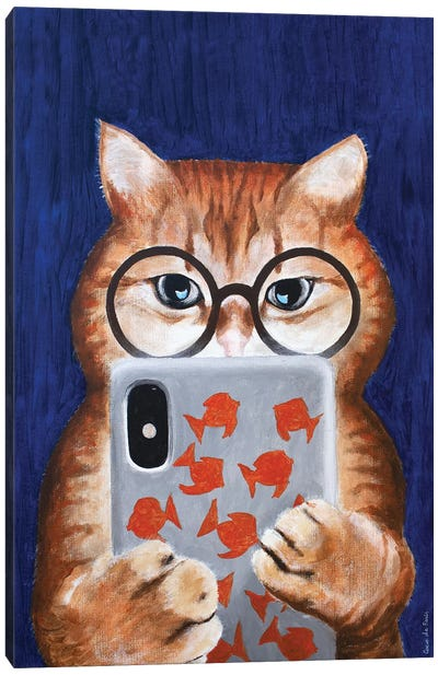 Instagram Cat Canvas Art Print
