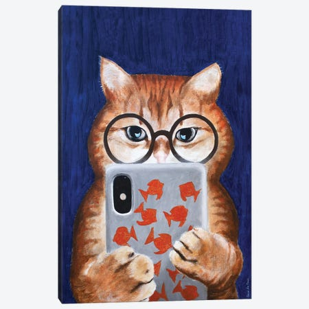 Instagram Cat 3-Piece Canvas #COC325} by Coco de Paris Canvas Artwork