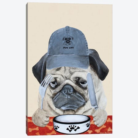 Pug Life Canvas Print #COC326} by Coco de Paris Canvas Wall Art