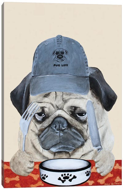 Pug Life Canvas Art Print
