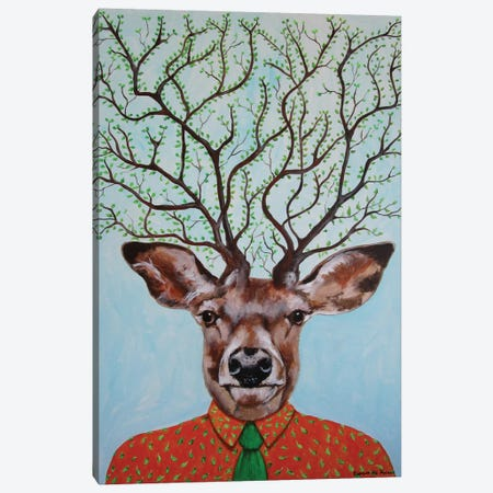 Deer Tree Canvas Print #COC32} by Coco de Paris Art Print