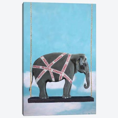 Fragile Elephant Canvas Print #COC339} by Coco de Paris Canvas Wall Art