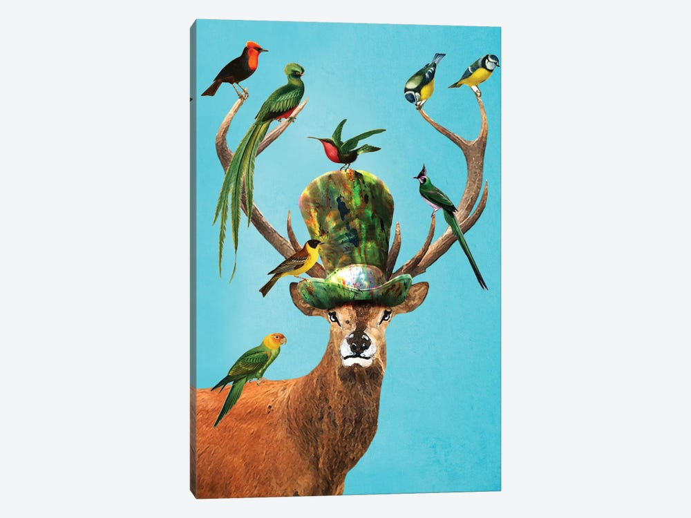 Deer With Birds by Coco de Paris 1-piece Canvas Art
