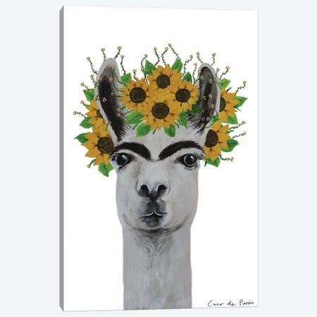 Frida Kahlo Llama Canvas Print #COC354} by Coco de Paris Canvas Art Print